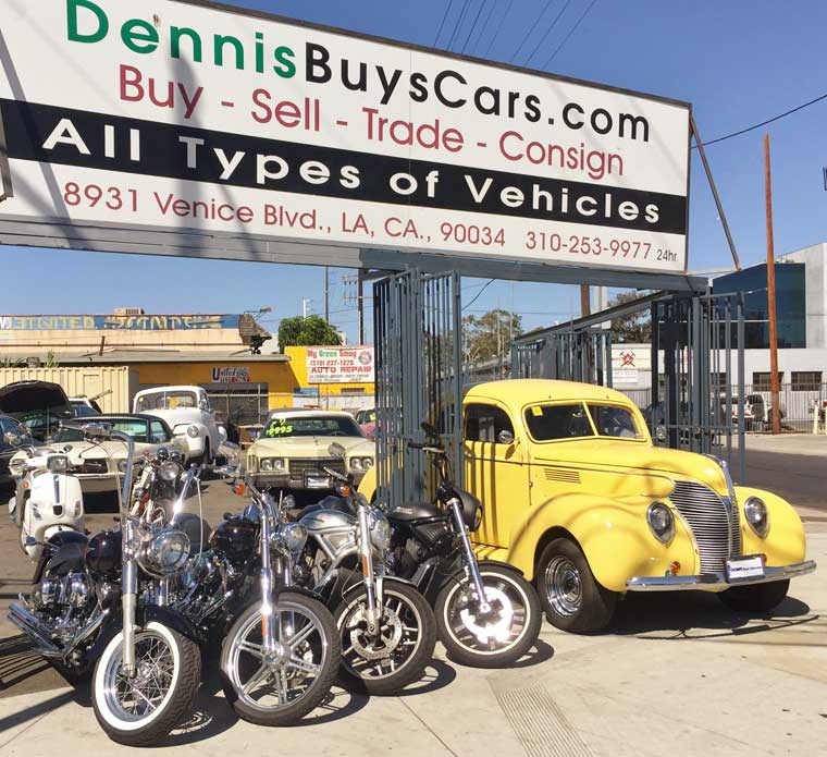 Dennis Pays cash for vintage cars and motorcycles