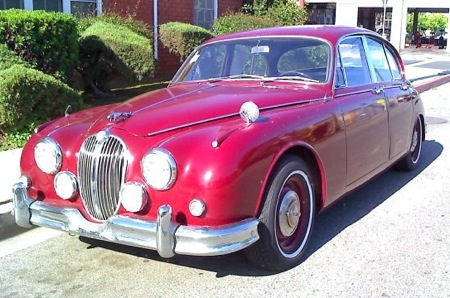 Jaguar saloon recently sold by Dennis Goddard at Dennis Buys Cars for Cash
